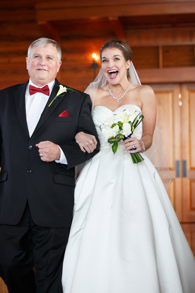 bride and father walk aisle baltimore wedding photographer