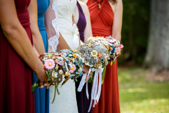 brooch bouquets bridesmaids maryland weddings