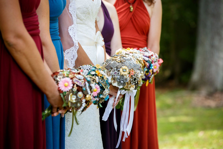 brooch bouquets bridesmaids maryland weddings