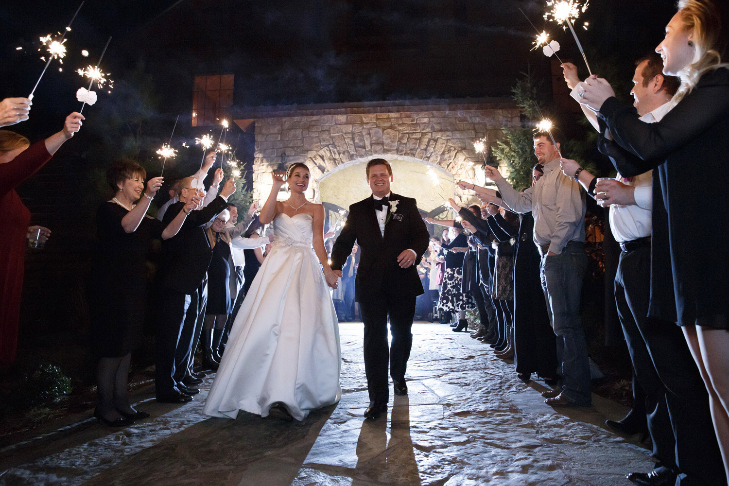 sparkler exit wedding photographer