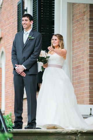 first look woodlawn plantation wedding