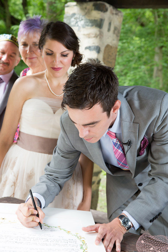 signing ketubah baltimore wedding