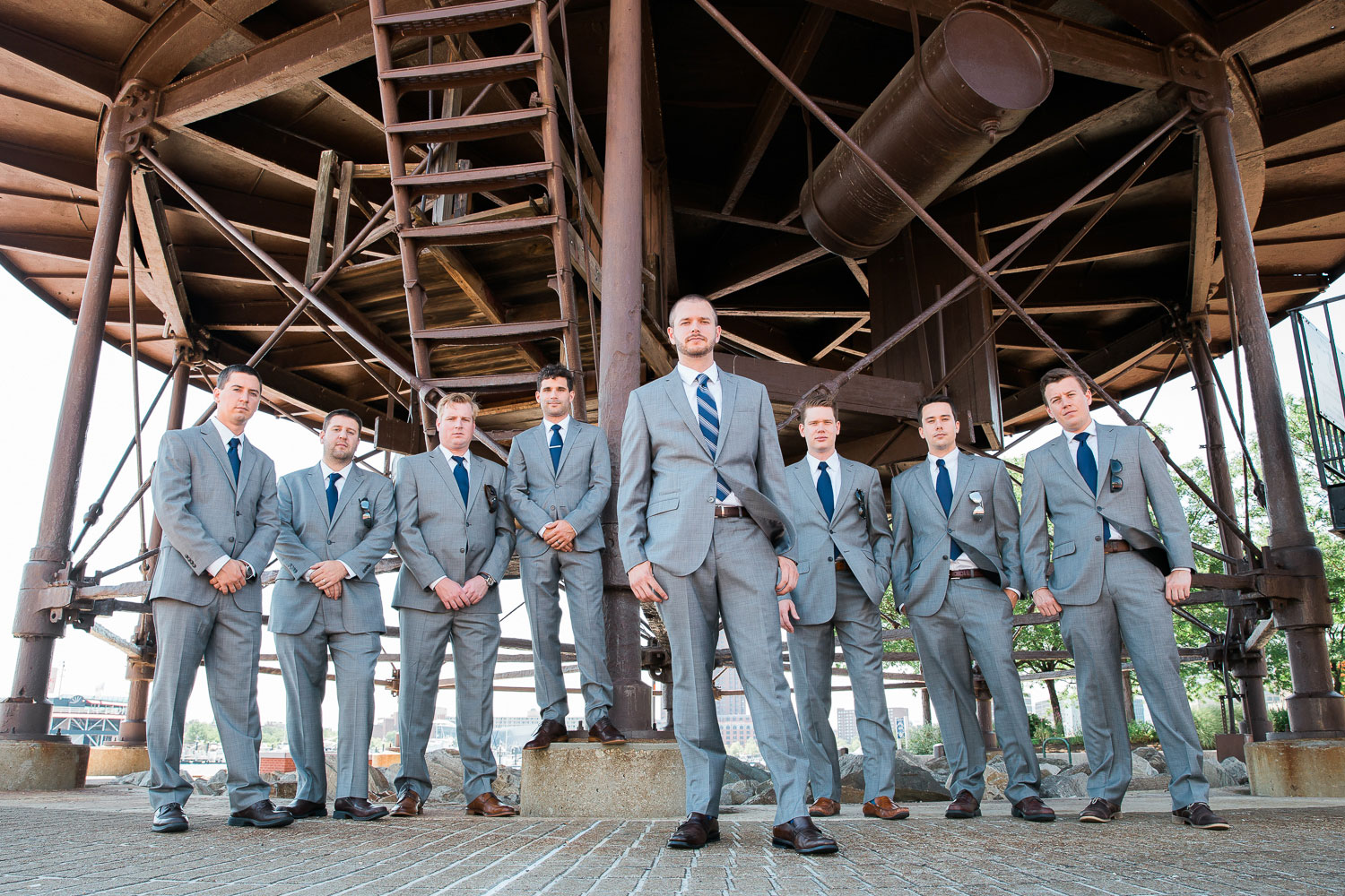 groomsmen inner harbor baltimore
