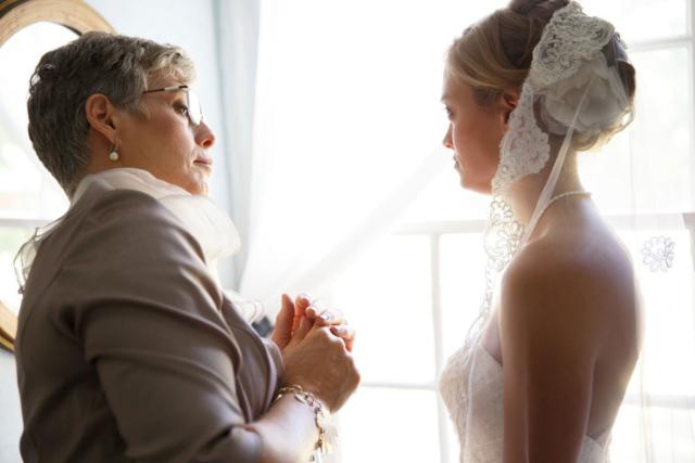 mob bride getting ready