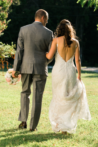 natural light wedding photo