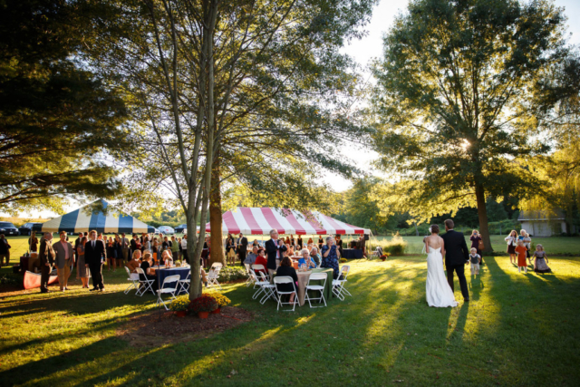 outdoor wedding reception maryland