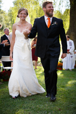 wedding recessional photo maryland