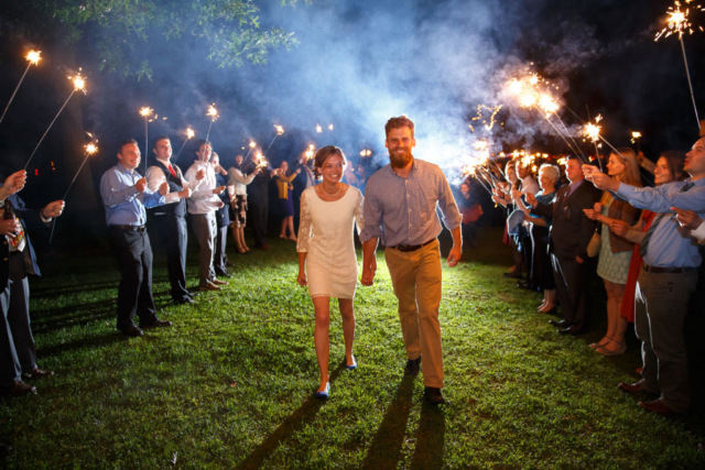 sparkler exit maryland wedding