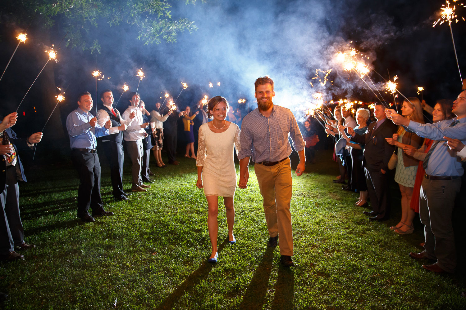 sparkler exit maryland wedding