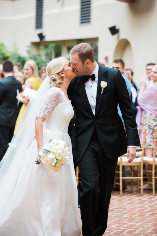 wedding kiss alexandria weddings