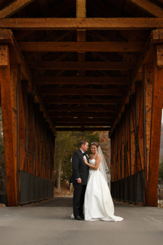 bride and groom bridge maryland wedding