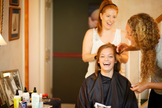 hair makeup annapolis wedding