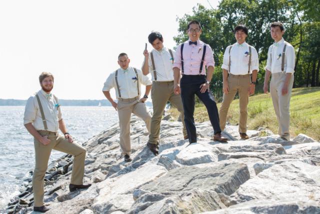 groomsmen chesapeake bay wedding