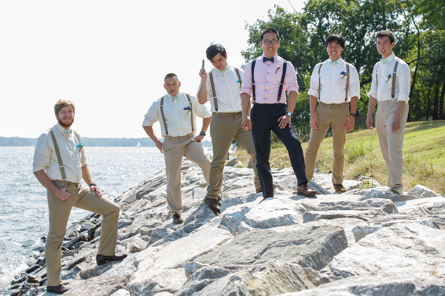 groomsmen chesapeake bay wedding