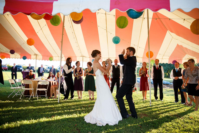 wedding reception tent maryland